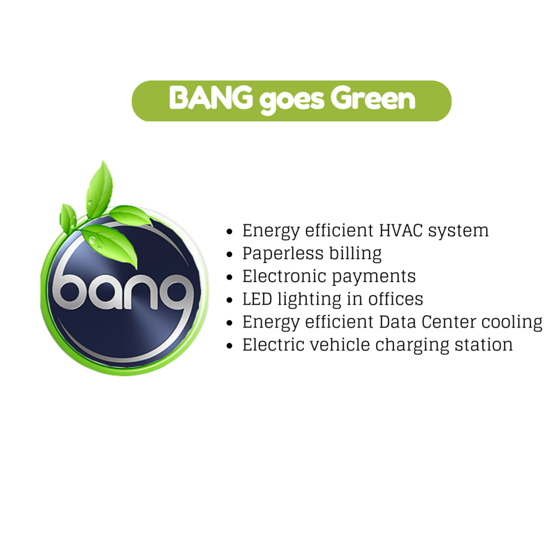 Bang goes Green